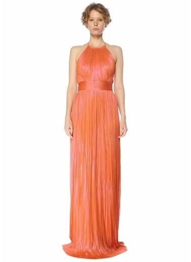 Maria Lucia Hohan Maria Lucia Hohan Cybele Turuncu Sırt Detaylı Maksi Abiye Elbise 101625368 Oranj